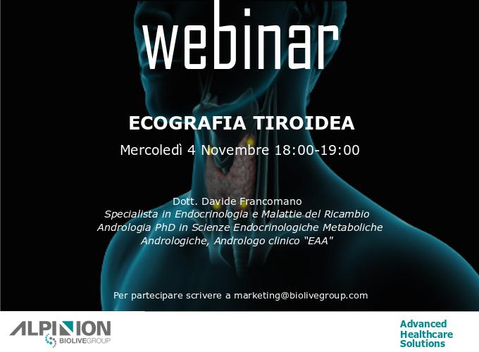 Alpinion Italia | Webinar Ecografia Tiroidea